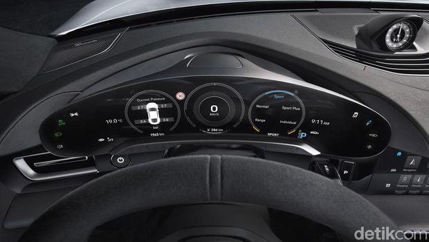 Interior mobil Porsche Taycan