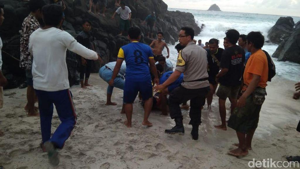 Ibu dan Anak asal Arab Saudi Tewas Terseret Ombak Pantai di Lombok