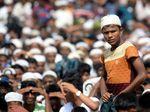 Peringati 2 Tahun di Kamp Bangladesh, Pengungsi Rohingya Gelar Aksi Demo