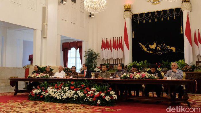 Joko Widodo (Jokowi) mengumumkan ibu kota baru. (Andhika/detikcom)