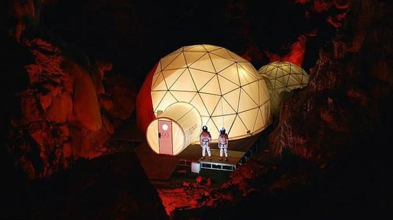 Penginapan ala Mars di gua Spanyol (Astroland)