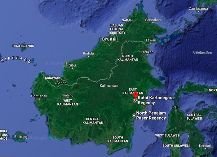 Peta Kalimantan. Foto: Google Maps