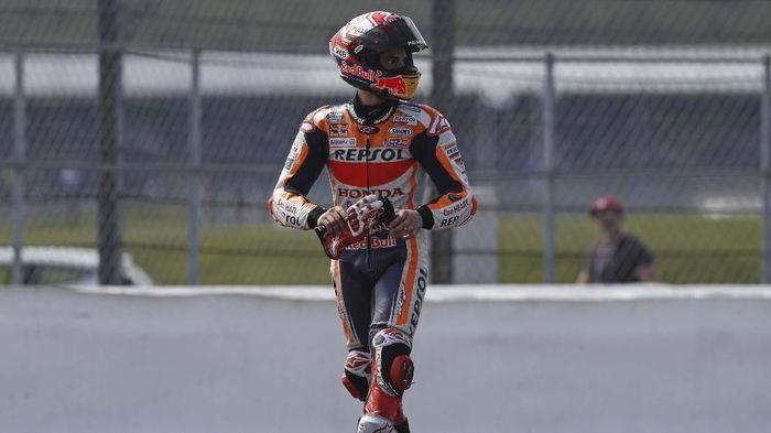 Marc Marquez mengincar kebangkitan di MotoGP San Marino setelah dipecundangi di dua race terakhir (Adrian DENNIS / AFP)