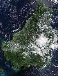 Melihat Potret Kalimantan dari Luar Angkasa