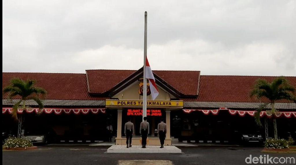 Belasungkawa Ipda Erwin, Polisi Tasik Kibarkan Bendera Setengah Tiang