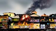 Kebakaran Rumah di Penjaringan, 25 Unit Damkar Dikerahkan