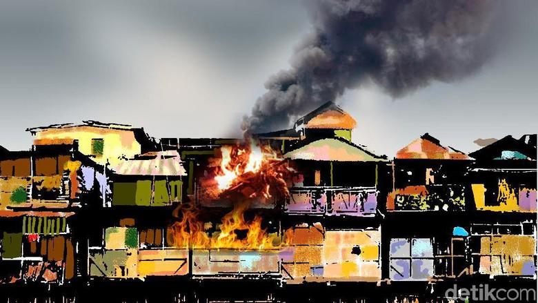 26 Rumah Terbakar di Kembangan Jakbar, 17 Unit Damkar Dikerahkan