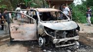 Begini Kondisi Mobil Berisi Dua Mayat yang Terbakar di Sukabumi