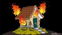 Kebakaran Rumah di Penjaringan Jakut, 12 Damkar Dikerahkan