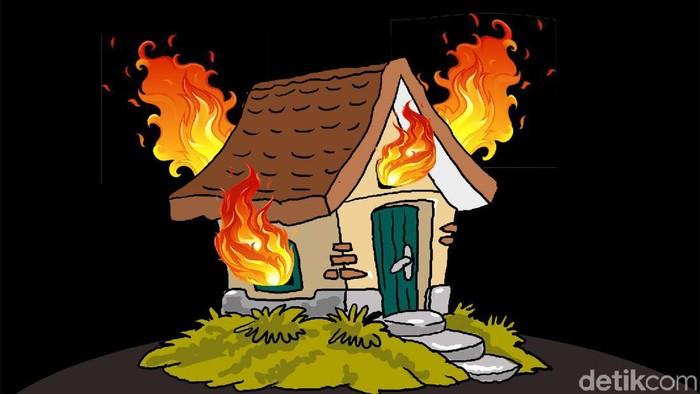 Ilustrasi kebakaran rumah. (Edi Wahyono/detikcom)