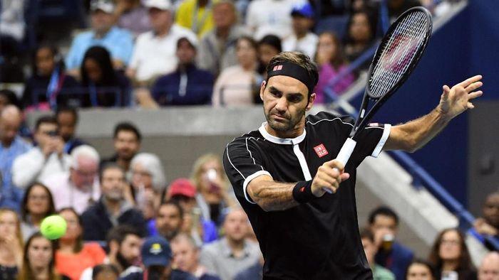 Roger Federer dipaksa main empat set di babak pertama Amerika Serikat Terbuka 2019 (Foto: Danielle Parhizkaran-USA TODAY Sports)