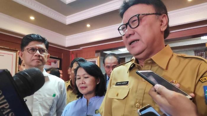 Rapat koordinasi antara lembaga dan kementerian ini dilaksanakan di Kantor Kemendagri, Jakarta Pusat, Selasa (27/8/2019).