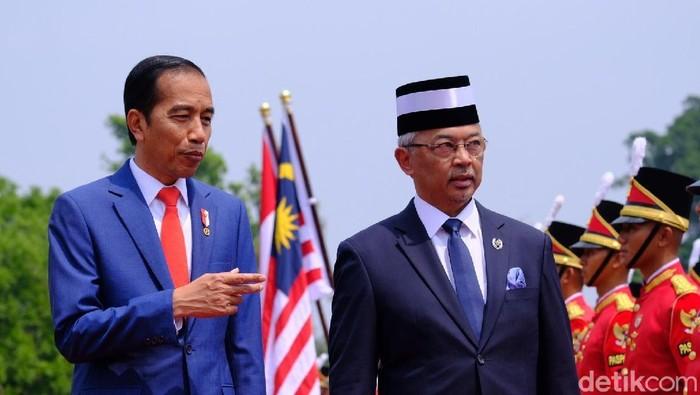 Jokowi Sambut Raja Malaysia (Andhika/detikcom)