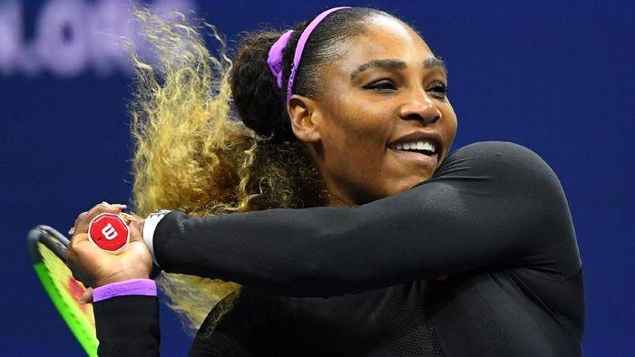 Serena Williams menyingkirkan Maria Sharapova di babak pertama Amerika Serikat Terbuka 2019 (Foto: Robert Deutsch-USA TODAY Sports)