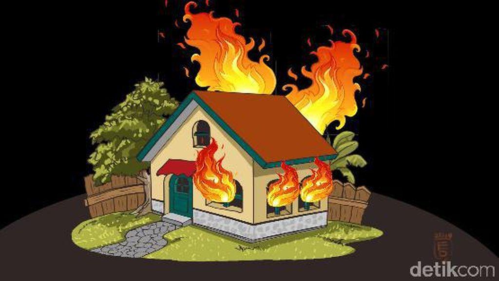 Akibat Korsleting, Rumah di Sawah Besar Jakpus Terbakar