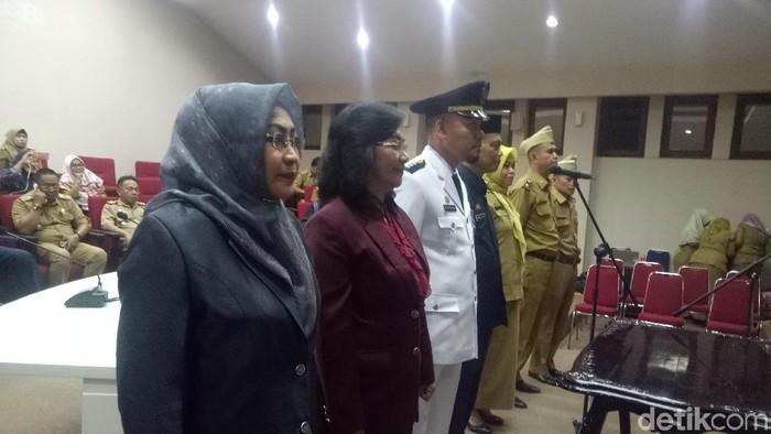 Pelantikan Kadisdukcapil Makassar Aryati Puspa (Ibnu/detikcom)