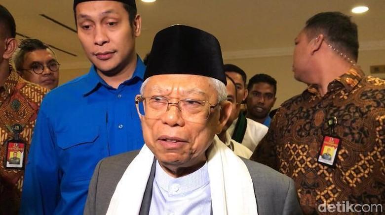Maruf Amin Melayat ke Kediaman BJ Habibie