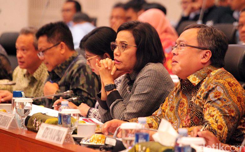 Dalam rapat kerja ini pemerintah diwakili Menteri Keuangan Sri Mulyani Indrawati, Menteri PPN/Kepala Bappenas Bambang Brodjonegoro, Deputi Gubernur Senior Destry Damayanti, dan perwakilan dari Kemenkumham.