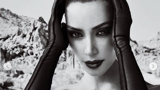 Pose Kim Kardashian di Majalah Arab