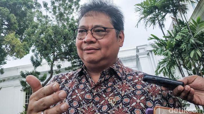 Foto: Menteri Perindustrian Airlangga Hartarto (Andhika/detikcom)