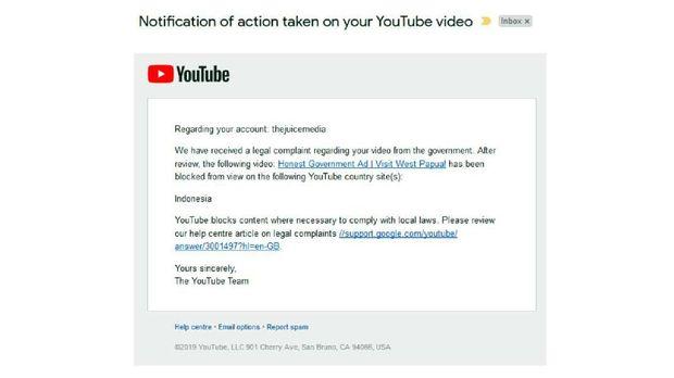 YouTube Diduga Blokir Video asal Australia soal Isu Papua