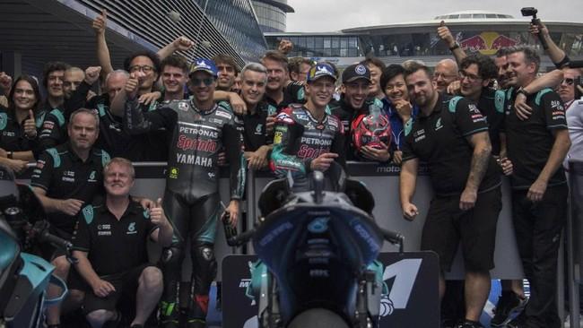 Petronas Yamaha menargetkan kemenangan di MotoGP 2020. Foto: Mirco Lazzari gp / Getty Images`
