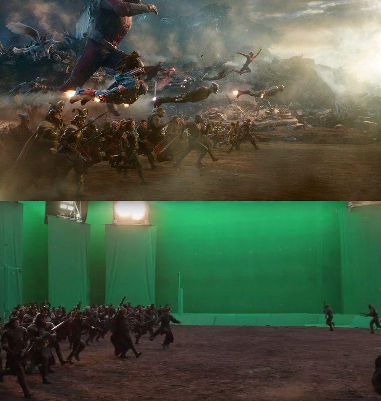 Banyak yang masih sulit move on dari pertarungan epik di Avengers: Endgame, nah kali ini kami akan tunjukan bagaimana suasana asli di studio.Dok. Walt Disney Pictures