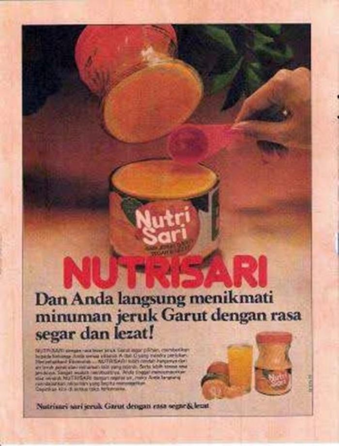 Nutrisari sudah ada sejak dulu. Beberapa puluh tahun yang lalu Nutrisari memasarkan produk minuman mereka, menggunakan iklan yang sederhana. Foto: Istimewa