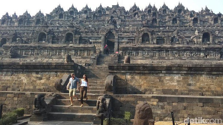 Pengunjung di Candi Borobudur (Eko Susanto/detikTravel)