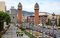 Personel kepolisian di Barcelona ditambah di sudut-sudut kotanya (iStock)