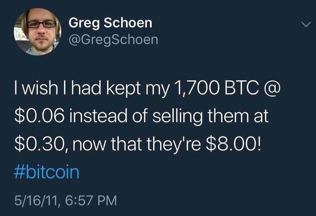 Kalau yang ini cuitan soal Bitcoin di masa lalu. Nggak kebayang ya? (Foto: via Boredpanda.com)