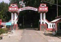 Gapura Wana Wisata Rowo Bayu (Ardian/detikcom)