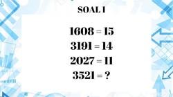Menghilangkan penat menjelang akhir pekan, yuk coba refreshing pikiran dengan menebak teka-teki ini. Kalau bisa berarti kamu jenius nih!