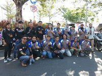 Ratusan Komunitas Motor Yamaha Serbu Pantai Losari Makassar