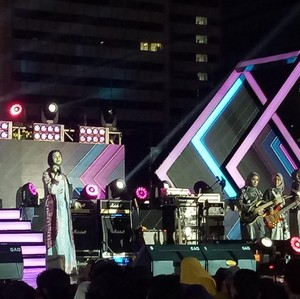 Intip Aksi Hijab Band di Jakarta Festival Muharram