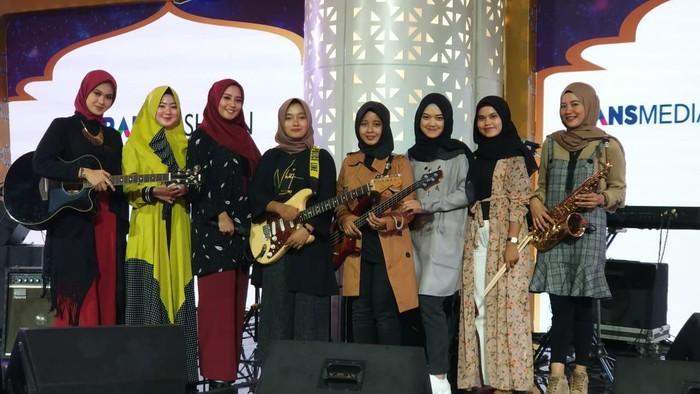 Hijab Band di audisi Jakarta / foto:detikcom