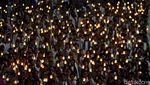Aksi Ribuan Peserta Pawai Obor Long March dari Monas ke Bundaran HI