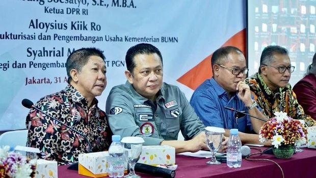 Bamsoet saat menjadi Keynote Speaker dalam Seminar Nasional dengan tema 'Peranan DPR RI dalam Pengawasan Pelaksanaan Pendidikan Tinggi di Indonesia', di Jakarta, Sabtu (31/8/2019).