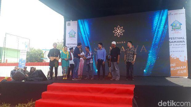 Gubernur DKI Jakarta Anies Baswedan dalam Festival Rumah DP 0 Rupiah di Jaktim