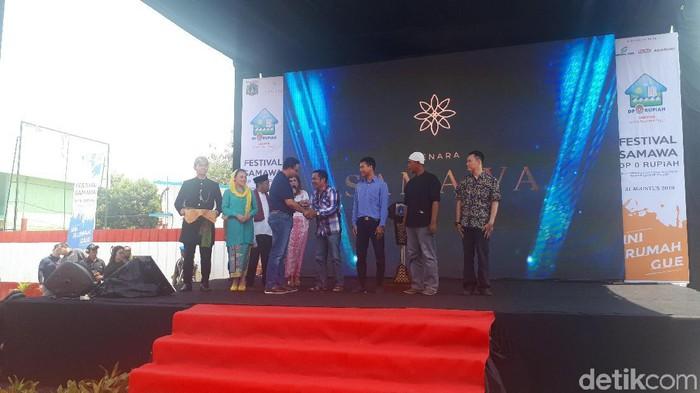 Anies Baswedan dalam Festival Rumah DP Nol (Faiq Hidayat/detikcom)