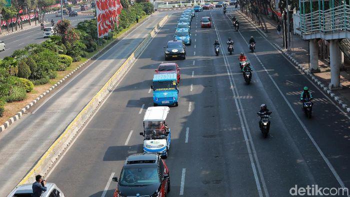 Konvooi kendaraan listrik Foto: Pradita Utama