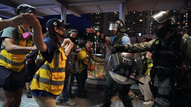 ilustrasi demo anti pemerintah di Hong Kong