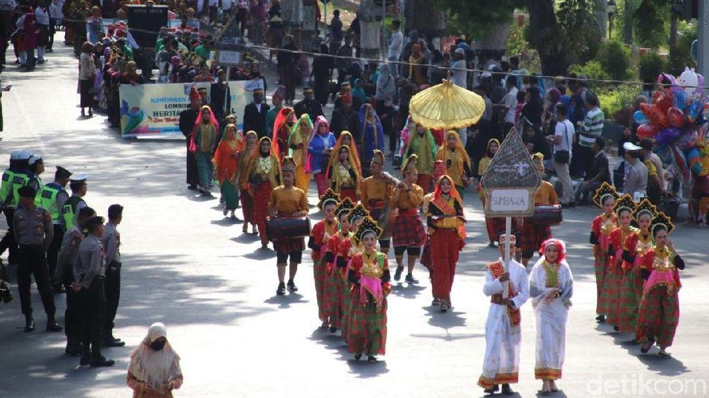 Potret Meriah Karnaval Heritage Lombok-Sumbawa