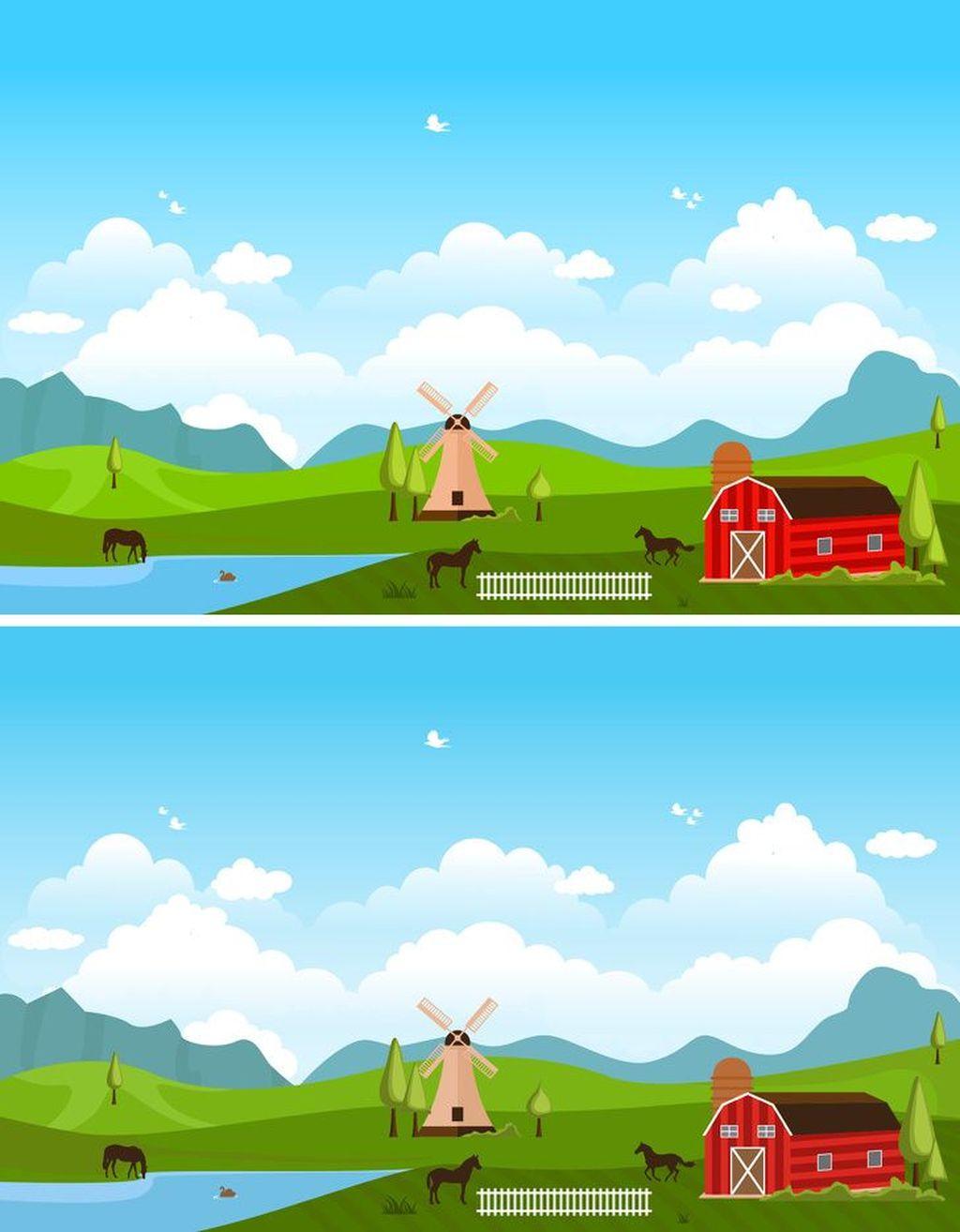 Tebak manakah yang berbeda dari kedua gambar ini? (Foto: Brightside)