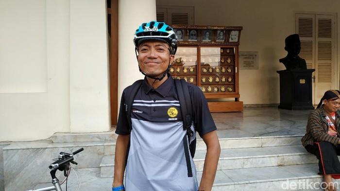 Vidi Widiyastomo, salah seorang anggota Bike2Work. (Foto: Sarah Oktaviani Alam/detikHealth)
