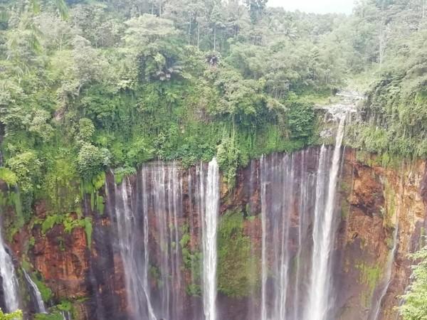 Air Terjun Tumpak Sewu atau Coban sewu berada di perbatasan KAbupaten Lumajang dan Malang. (Evan Erwanto/dTraveler)