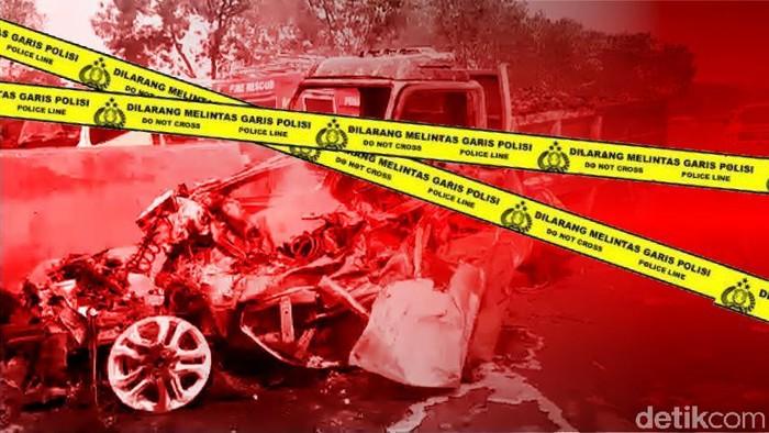 Ilustrasi Fokus Kecelakaan Maut Cipularang