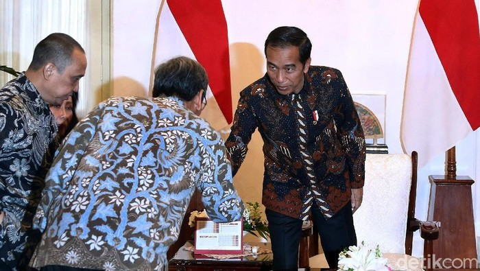 Presiden Jokowi ketika menerima pansel capim KPK di Istana (Foto: Rengga Sancaya/detikcom)