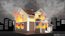 Kebakaran Rumah di Gondangdia Jakpus, 4 Mobil Pemadam Dikerahkan