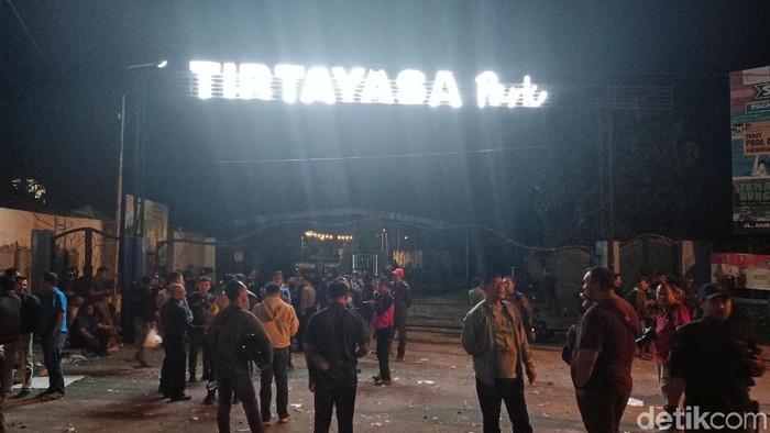 Suasana usai bentrok suporter di Kediri (Foto: Andika Dwi/detikcom)